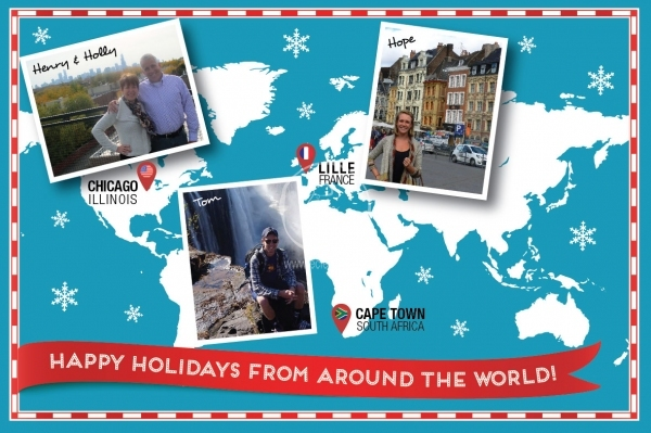 Order and customize holiday photo cards wintery world map photo order and customize holiday photo cards wintery world map photo card greeting cards eclectik m4hsunfo